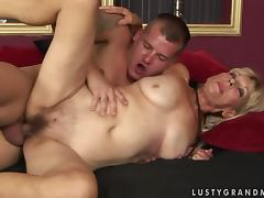 Irene gets her hairy snatch licked and pounded every which way