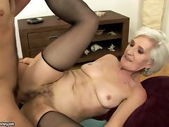 Viviana gets her old pussy licked and fucked every which way