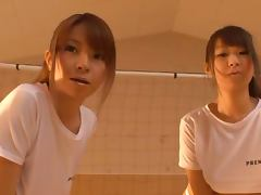 Busty Soccer Teens From Japan Give Head