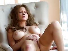 amazing brunette have luxury solo action