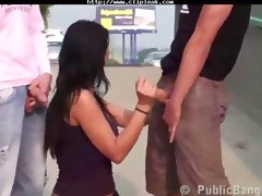 Daring Public Highway Threesome Awesome