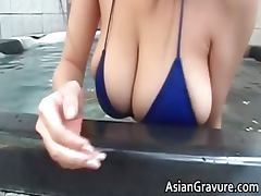 Hot brunette asian hoe with big juggs part1 porn video