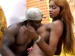 Black Shemale Blowjob