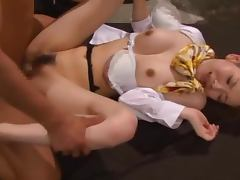 Horny babe Yuria Ashina is a maid with some extra chores