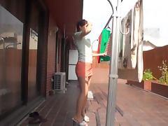Miniskirt, Asian, Cum in Mouth, Cumshot, Facial, Handjob