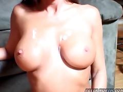 Horny Cheyenne Hunter sucks a cock and gets fucked doggystyle