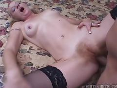 Tai Ellis the blonde MILF sucks and rides big dick