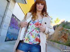 Alleyway Sex in Public with Redhead Stunner Carol Vega