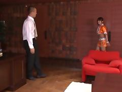 Horny Saki Gets Banged In Her New Orange Outfit