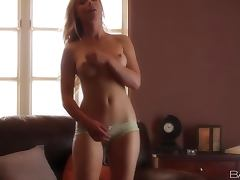 Kayden Kross the nice blonde in lingerie fingers herself porn video