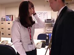 Nice teen in office suit hardcore fucking