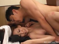 Risa Murakami seduces her college for sex in the office