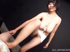 Sakura Mano is a sweet Japanese babe with hot tits