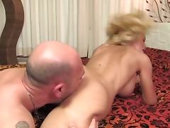 Evita Pozzi Guy Fucks Busty Blonde in Bed