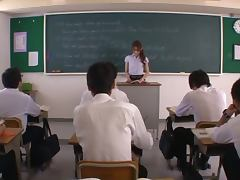 Beautiful Japanese teacher is forced to fuck her student