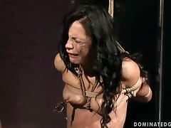Stunning Black Sonja sucks a cock and gets tortured