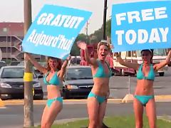 Sexy Car Wash Prank with hot Bikini Babes