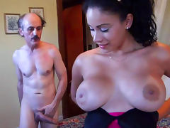 Old and Young, Babe, Bedroom, Big Tits, Blowjob, Boobs