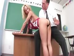 Blonde student banged in the cabinet