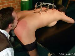 Sexy Yoha gets her pussy fingered and fucked in BDSM vid