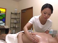 Asian Massage Provokes a Boner and The Massues Can't Help Jerking It Off