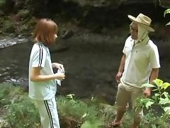 Horny Suimire Matsu Gives A Blowjob And Gets Licked Outdoors