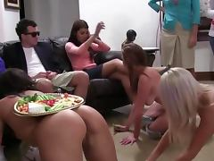 Sorority lesbians lick each other out