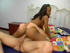 Black, Black, Couple, Cowgirl, Interracial, Riding