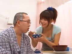 Naughty Azumi Harusaki gives an amazing blowjob