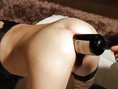 Bottle, Amateur, Anal, Asshole, Bottle, Gaping