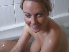 Alexis in the bathtub