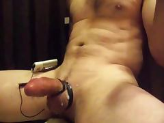 Cumshot with Flesh and e stim Spritzen mit Fleshlight