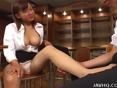 Japanese teacher pleases her student uncensored