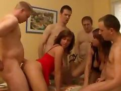 Some insane group sex with two juicy angels