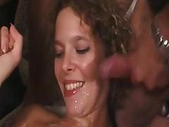 Amateur milf enjoys some nice group sex