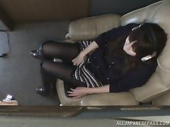 Momo Ogura enjoys rubbing her pussy in front of a hidden cam