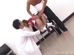 Japanese slut gets her cunt fisted and pounded hard