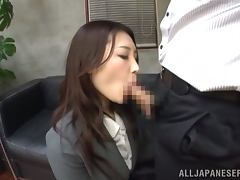 Tsuna Nakamura gets fucked in an amazing position in an office