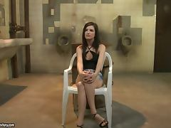 Ann Marie La Sante gets punished in a public bathroom porn video