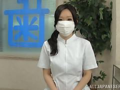 Cute and petite Japanese dentist gets fucked by the client