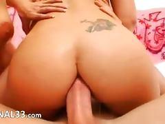 Brutal anal acrobat sluts threesome sex