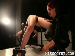 Sarah tied punished and made to cum