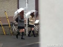 Naughty Miyu Kiritani lifts her skirt up and gets fucked