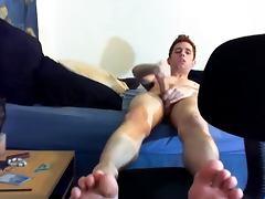Cum feet boy