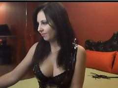 Brunette Smoking and Fingering Pussy on Webcam