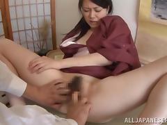 WIfe in kimono can fuck with her trad clothes on