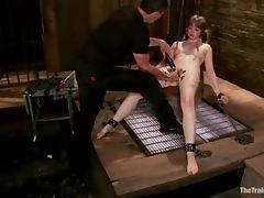 Rough BDSM video with kinky Alan Pi getting tortured