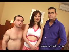 Brunette MILF Sandra Volunteers To Have Hardcore Sex With Height Challenged Man