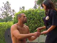 Police, Big Tits, Blowjob, Boobs, Brunette, Cop