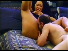 BBW Big Boobed Asian Ginger Enjoys A Fucking